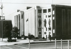 View of City Hall looking northwest from corner of Main Street & 7th Street NE, ca. 1969