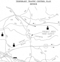 One option during construction would be to close Route 240 for six months, creating a detour