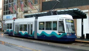 A photo-simulation of how the streetcar might look on West Main Street